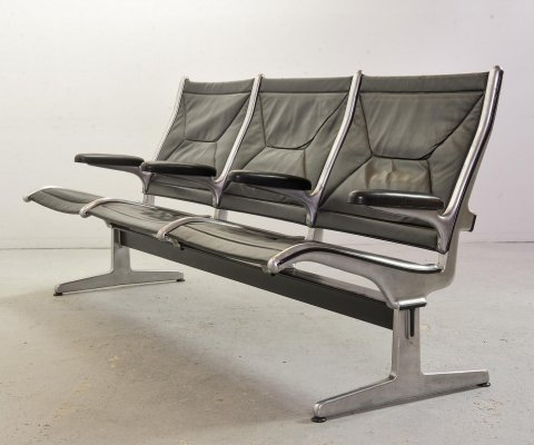 Tandem Sling Airport Bench by Charles & Ray Eames for Herman Miller, USA 1962