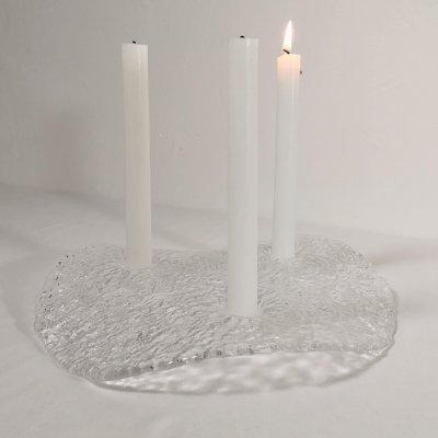 Pukeberg 'Lily Pad' Candle Holder by Uno Westerberg