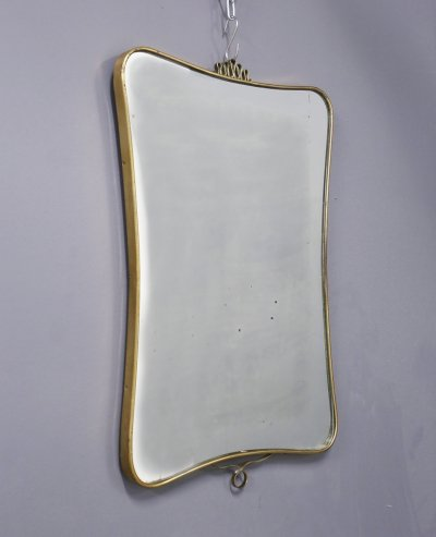 Italian MidCentury Mirror in brass, 1950s