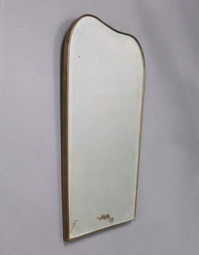 Italian Mirror in Brass, 1950s