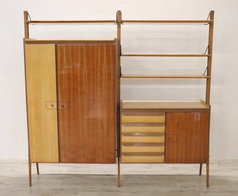 Italian Vintage Design Large Bookcase or Cabinet, 1960s