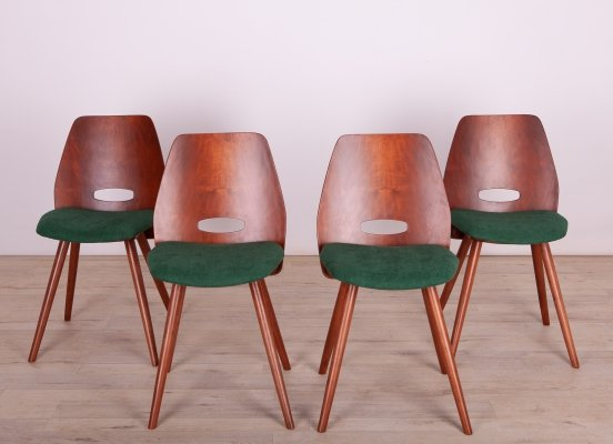 Set of 4 Vintage Czechoslovakian Lollipop Chairs by František Jirák for Tatra, 1960s