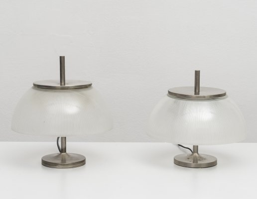 Pair of 'Alfetta' table lamps by Sergio Mazza for Artemide, 1960s