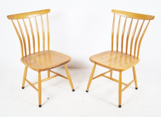 Pair of SZ03 Dining Chairs by Bengt Akerblom & Gunnar Eklof for Akerblom, 1950s