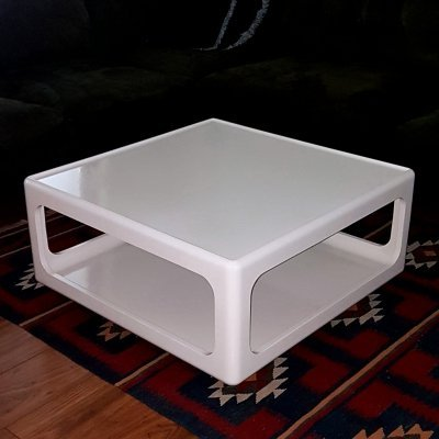 Space age coffee table on wheels by Peter Ghyczy, Germany 1970s
