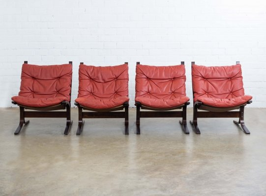 Set of 4 Siesta lounge chairs by Ingmar Relling for Westnofa, 1960s