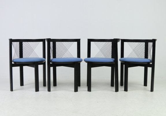 Niels Jorgen Haugesen for Tranekaer Furniture set of 4 'String' chairs