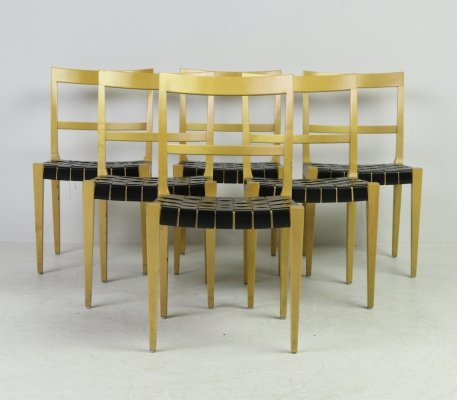 Bruno Mathsson for Bruno Mathsson International set of 6 'Mimat' chairs