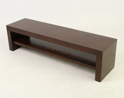 Art Deco bench in solid wood, 1920's