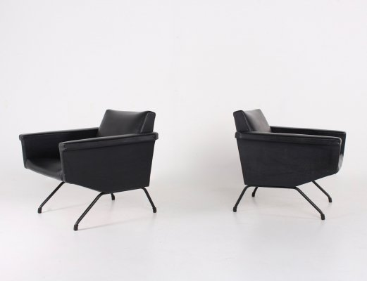 Pair of Visiteur Armchairs by Pierre Guariche for Meurop