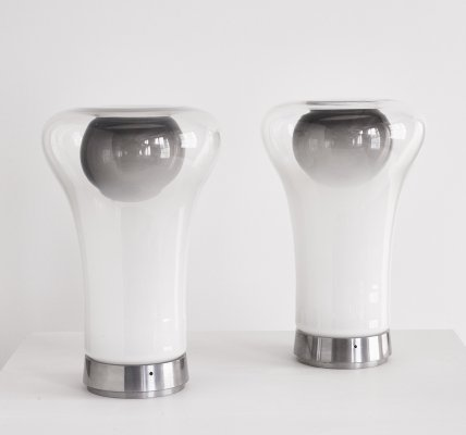 Pair of Saffo table lamps by Angelo Mangiarotti