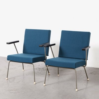 Wim Rietveld Pair of Easy Chairs 1401 for Gispen, 1954