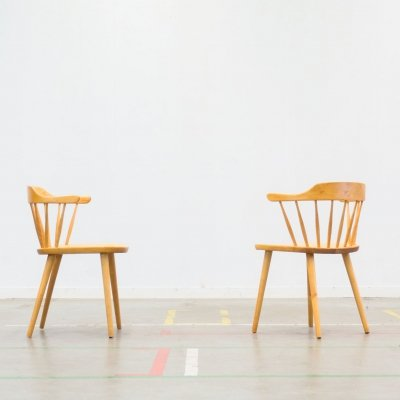 Pair of Småland arm chairs by Yngve Ekström for Stolab, 1960s