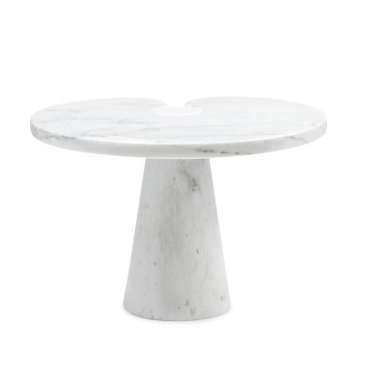 Eros White Carrara Marble Side Table by Angelo Mangiarotti for Skipper, 1970s