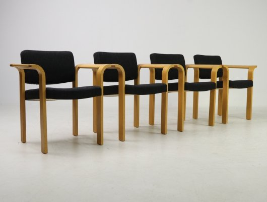 Set of 4 chairs by Rud Thygesen en Johnny Sørensen for Botium, Magnus Olesen