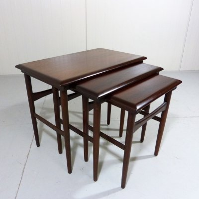 Rosewood Nesting Tables by Dyrlund Denmark