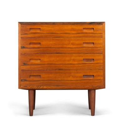Danish rosewood chest of drawers by Carlo Jensen for Hundevad & Co, 1960s