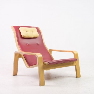 Vintage 'Pulkka' chair by Ilmari Lappalainen for Asko, 1970s