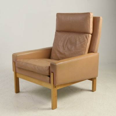 Vintage armchair by Illum Wikkelso for CFC Silkeborg, 1970s