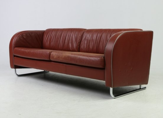 Art Deco style sofa by Scandinavian furniture maker, 1960s