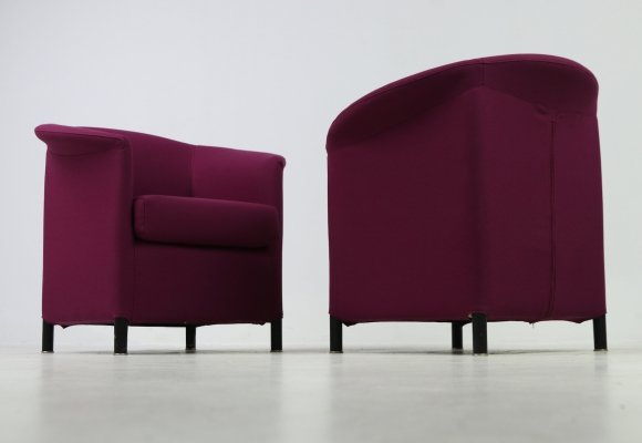 Set of 2 'Aura' armchairs by Paolo Piva for Wittmann Austria, 1980s