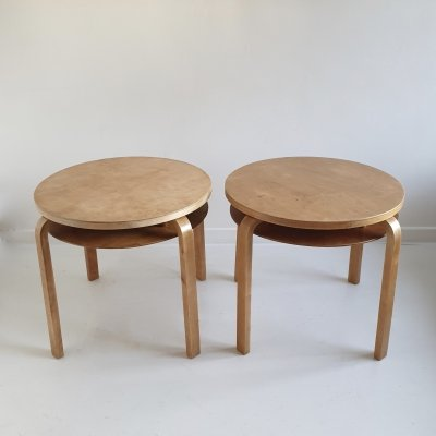 Pair of Rare '907' Stacking Side Tables by Alvar Aalto for Artek, c.1940