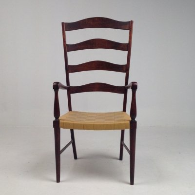 High back wooden chair in Shaker style, 1990s