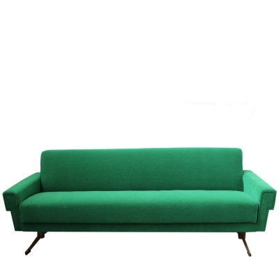 Italian Emerald Green sofa, 1960s