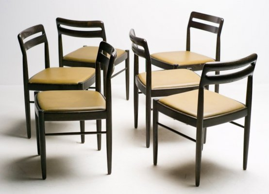 Set of six Danish design chairs by H.W. Klein for Bramin