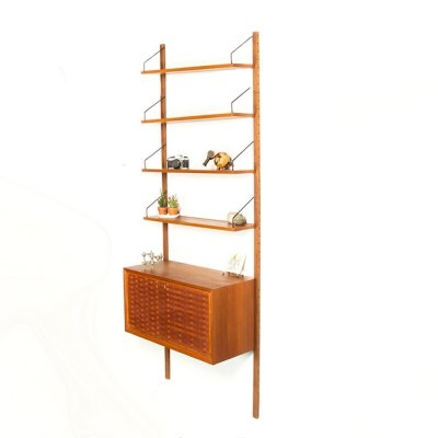 Vintage teak Poul Cadovius Royal System wall unit for Cado