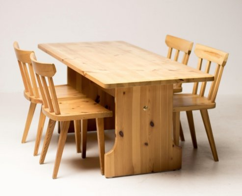 Carl Malmsten for Karl Andersson & Söner pine dining set