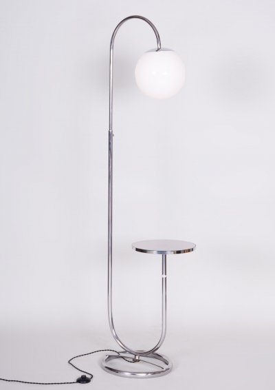 20th Century Chrome Floor Lamp by Hynek Gottwald, 1930s