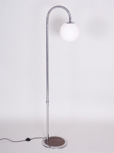20th Century Czech Bauhaus Chrome Floor Lamp by Robert Slezák, Period 1930-1939