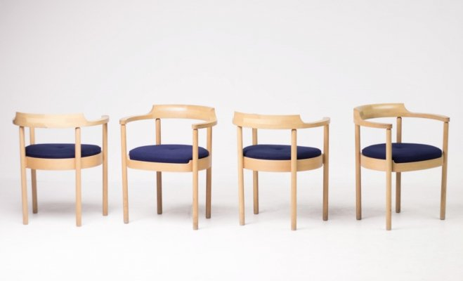 Set of 4 'M40' chairs by Henning Jensen & Torben Valeur for Munch Møbler, 1960s