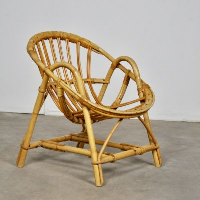 Rattan Armchair for Children, 1960s