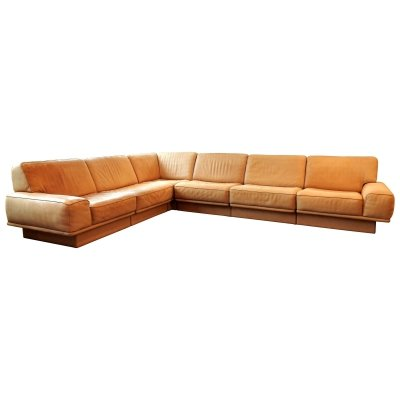 Mid-century leather sectional corner sofa by de Sede, Switzerland