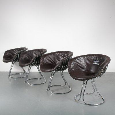 Set of 4 'Pan Am' Chairs by Gastone Rinaldi for Rima, Italy 1960