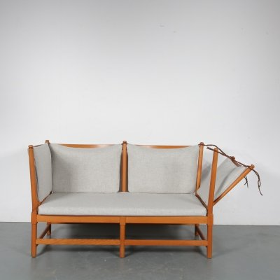 Spokeback Sofa by Børge Mogensen for Fritz Hansen, Denmark 1963