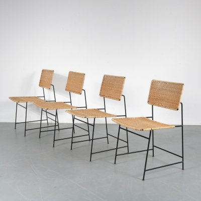 Set of 4 Herta-Maria Witzemann 'SW88' Chairs for Wilde + Spieth, Germany 1954
