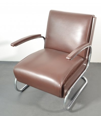 S-411 Cantilever Easy Chair / Armchair from Mücke Melder, 1930s