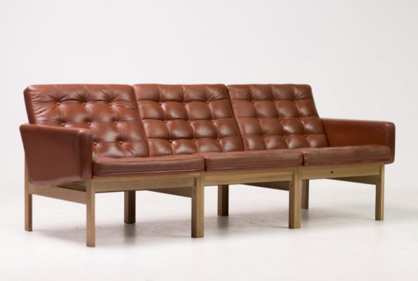Tree seat modular sofa by Ole Gjerlov Knudsen & Torben Lind for France & Son