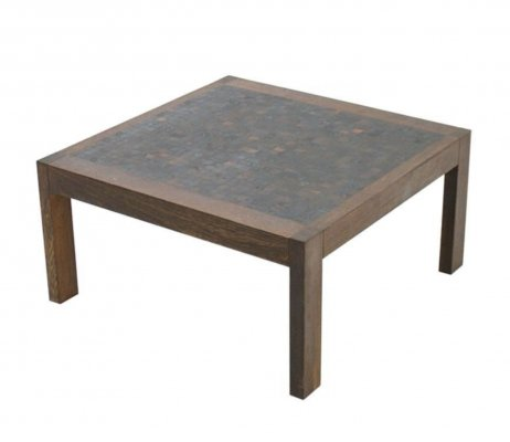 Dieter Waeckerlin Mosaic Coffee Table in Wenge, Switzerland 1960s