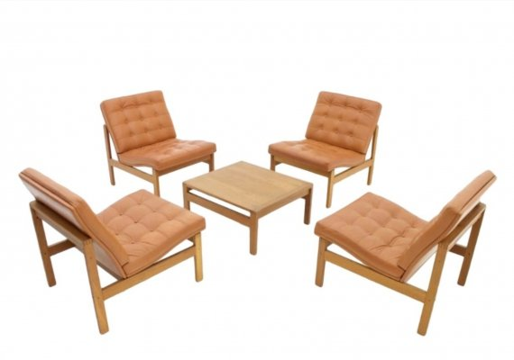 Lounge Chairs with Table from Torben Lind & Ole Gjerløv for France & Son