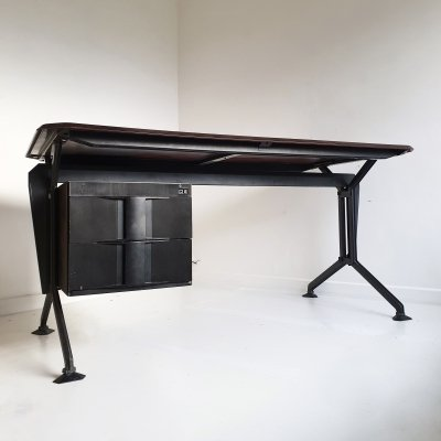 Black & Grey 'Arco' Desk by BBPR for Olivetti Synthesis, Italy 1960