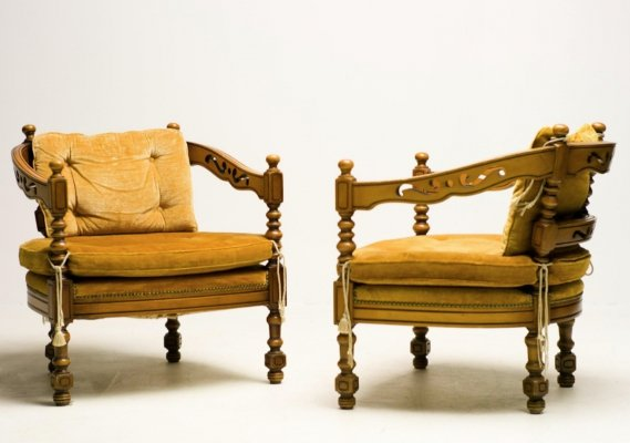 Set of 2 Giorgetti armchairs from 'Gallery' collection
