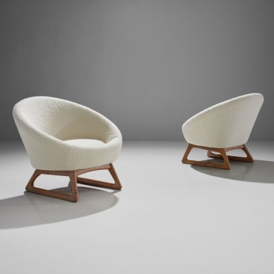Pair of Kurt Østervig 57A Lounge Chairs, Denmark 1958
