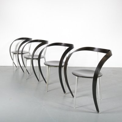 Set of 4 Andrea Branzi 'Revers' Chairs for Cassina, Italy 1990