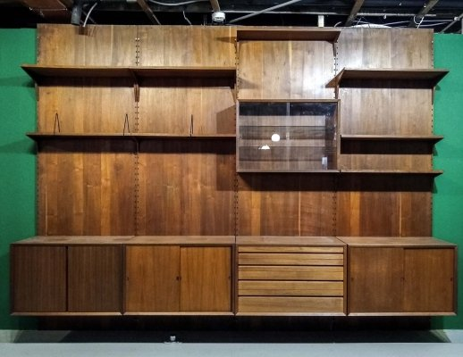 Large Teak Wood Poul Cadovius Wall Unit for Cado, Denmark 1960s