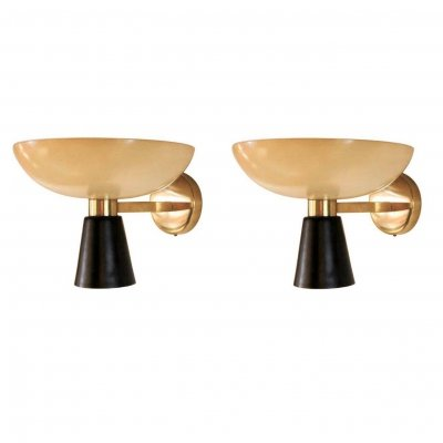 Pair of Elegant Wall Sconces by Stilnovo, Italy 1950