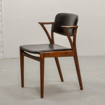 Dutch Design Teak Desk / Side Chair by Kai Kristiansen for Bovenkamp, 1960s